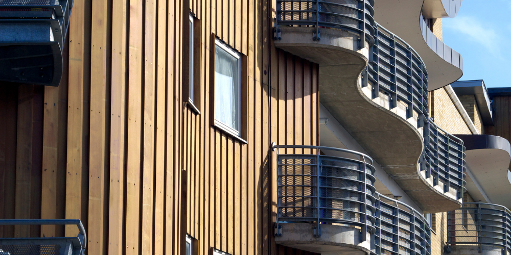 Case study - a flat with cladding